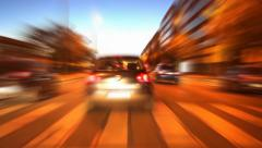 Road city at night Stock Footage