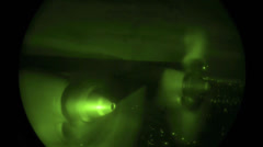 C130 Hercules engines during Night Drop Stock Footage