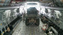 C-17 Globemaster III operations Stock Footage