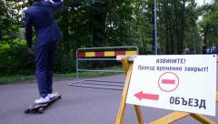 Skateboard show tricks Stock Footage