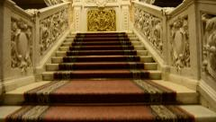 Stairs Palace registry office Stock Footage