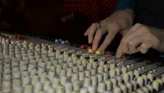Soundman mixer hand Stock Footage