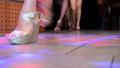 Fashion show defile Stock Footage