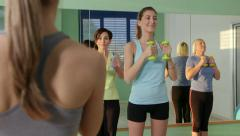 25of27 People training in fitness club, gym and sport activity Stock Footage