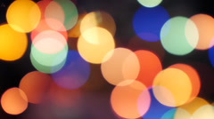 Christmas lighting glow, bokeh no.01 Stock Footage