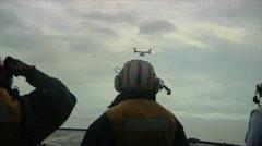 V-22 Osprey Aboard USS Ashland (LSD-48) Stock Footage