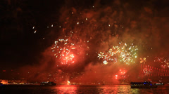 Istanbul, New Years Eve Fireworks Stock Footage