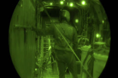 C130 Hercules Night Drop Stock Footage
