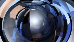 Futuristic magic ball with alpha Stock Footage