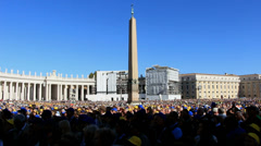 Pope Francis Wednesday Papal Audience at St Peters 18# Stock Footage