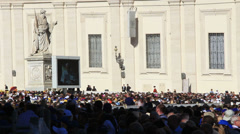 Pope Francis Wednesday Papal Audience at St Peters 14 Stock Footage