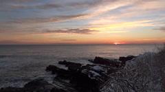 Beautiful Sunrise Ocean Coast Stock Footage