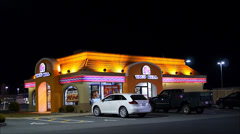 Taco Bell restaurant evening Stock Footage