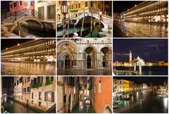 Night in Venice Stock Illustration