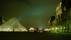 The Louvre is the most visited art museum in the world Stock Footage