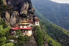 Taktshang goemba(tigers nest monastery), bhutan Stock Photos