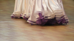 Long skirt dancers Stock Footage
