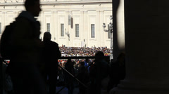 Pope Francis Wednesday Papal Audience at St Peters 8 Stock Footage