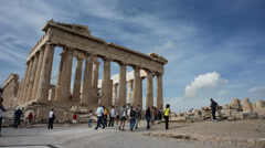 Athens Parthenon front view Timelapse Stock Footage