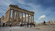 Stock Video Footage of Athens Parthenon front view Timelapse