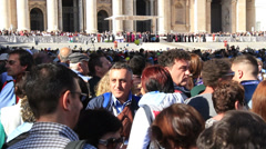 Pope Francis Wednesday Papal Audience at St Peters 27 - stock footage