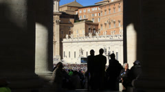 Pope Francis Wednesday Papal Audience at St Peters 5 - stock footage