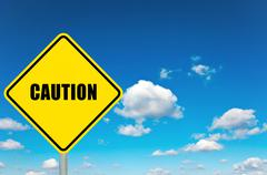 caution sign - stock photo