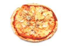 Pizza funghi with extra    mushrooms Stock Photos