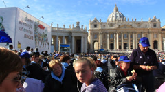 Pope Francis Wednesday Papal Audience at St Peters 40 Stock Footage