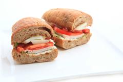 Sandwich on white background Stock Photos