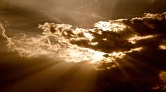 sunset sky. dusk clouds. weather season. summertime - stock photo