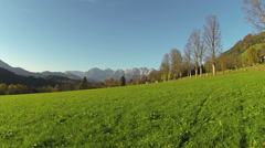 Meadow in Kitzbuehel Stock Footage