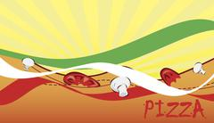 Banner for pizzeria Stock Illustration