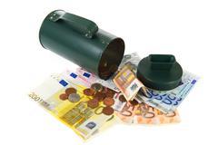 collecting money - stock photo