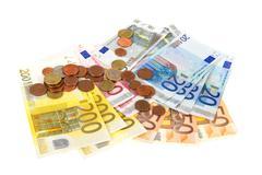 many european money - stock photo