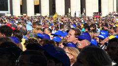 Pope Francis Wednesday Papal Audience at St Peters 21# Stock Footage