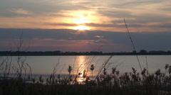 A sun above a salt lake Stock Footage