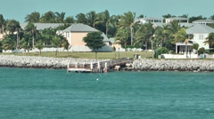 KeyWest 003HD, Palm Trees and Villas on Tank Island Stock Footage