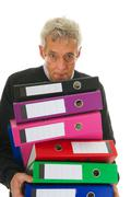 doing paper administration - stock photo