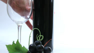 Stock Video Footage of Pour red / black wine in glass