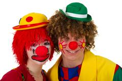 Clown couple Stock Photos