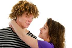 young attractive couple - stock photo