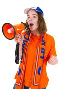 girl is supporting the dutch - stock photo