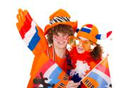 Stock Photo of boy is supporting the dutch