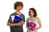 Stock Photo of school boy and girl