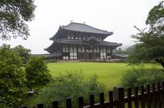 the main hall of todai ji temple in nara, japan. - stock photo