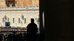 Pope Francis Wednesday Papal Audience at St Peters 11 (slow motion) Stock Footage