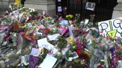 Nelson Mandela memorial, South Africa House, Trafalgar Square, London, UK. Stock Footage