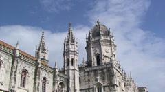 Timelapse Jeronimos Monastery - Lisboa Stock Footage