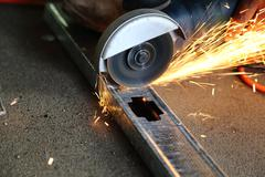 Metal cutter in action Stock Photos